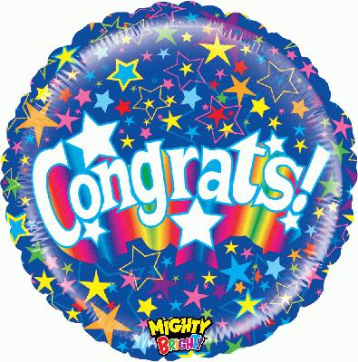 Mighty Stary Congrats - Foil Balloons