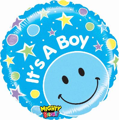 Mighty Smiley Boy - Foil Balloons