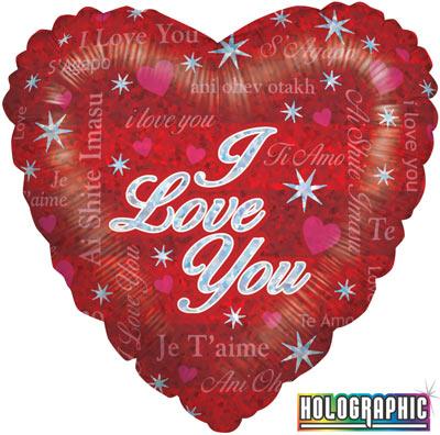 Sparkling Love - Foil Balloons