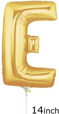 Megaloon Jrs 14 Letter E Gold - Clearance