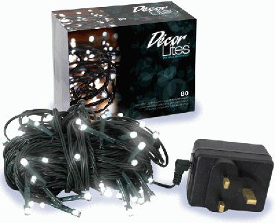 Décor Lites 80 Set White 24v (Green Wire) Steady (Special Net price) - L.E.D Lights