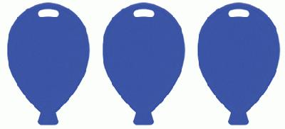 Balloon Shape Weights - Blue x100pcs - Accessories