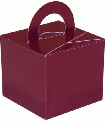 Balloon/Gift Box Burgundy x 10pcs - Accessories