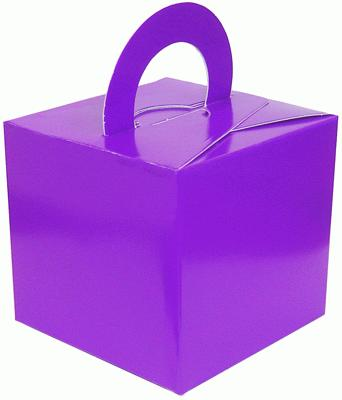 Balloon/Gift Box Purple x 10pcs - Accessories