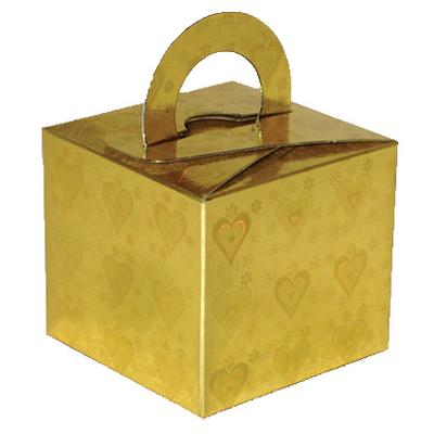 Balloon/Gift Box Gold Holographic Heart x 10pcs - Accessories