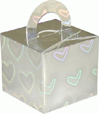 Balloon/Gift Box Holographic Large Heart x 10pcs - Accessories