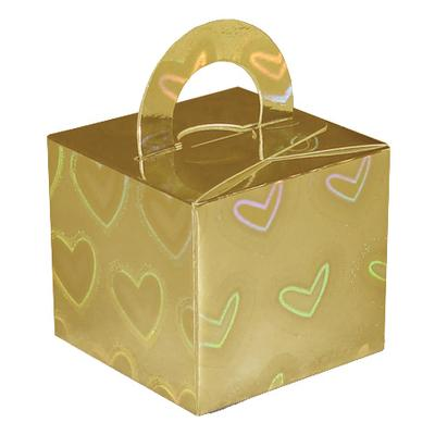 Balloon/Gift Box Gold Holographic Large Heart x 10pcs - Accessories