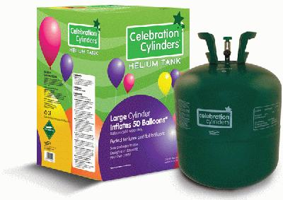 Celebration Cylinders Large No Balloons Pallet of 48 (Net Price) - Helium Balloon Gas