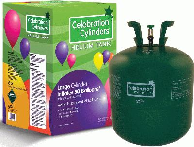 Celebration Cylinders Large No Balloons Half Pallet of 24 (Net Price) - Helium Balloon Gas