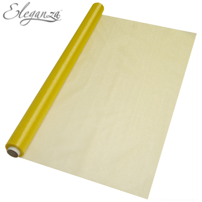 Eleganza Sheer Gold 70cm x 10m - Organza / Fabric