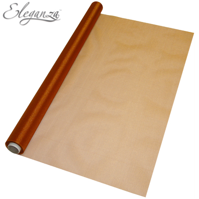 Eleganza Sheer Organza Copper 70cm x 10m - Organza / Fabric