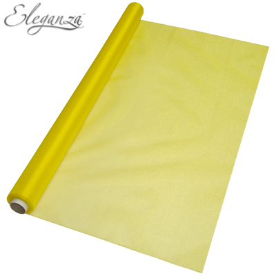 Eleganza Sheer Organza Yellow 70cm x 10m - Organza / Fabric