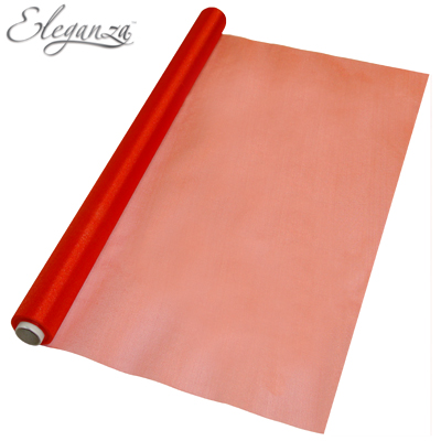Eleganza Sheer Organza Red 70cm x 10m - Organza / Fabric