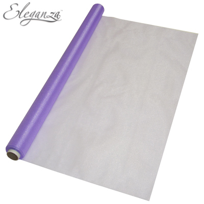 Eleganza Sheer Organza Purple 70cm x 10m - Organza / Fabric