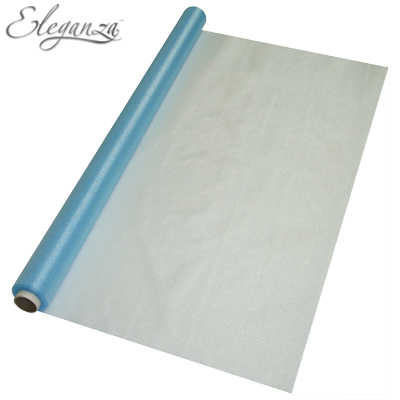 Eleganza Sheer Organza Light Blue 70cm x 10m - Organza / Fabric