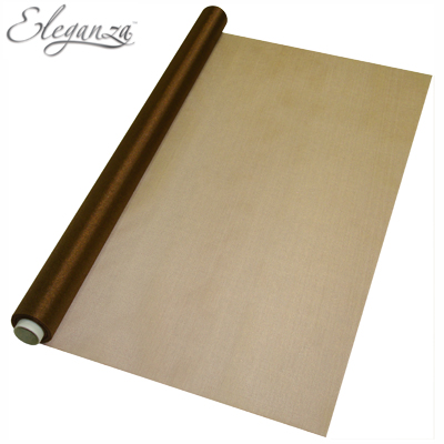 Eleganza Sheer Organza Chocolate 70cm x 10m - Organza / Fabric