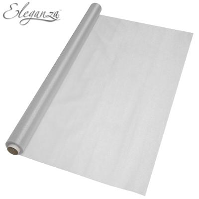 Eleganza Sheer Organza Silver 70cm x 10m - Organza / Fabric