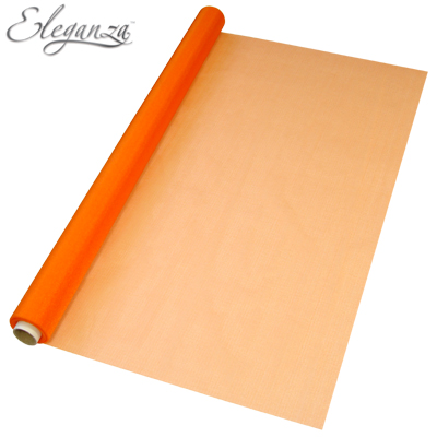 Eleganza Sheer Organza 70cm x 10m Orange - Organza / Fabric