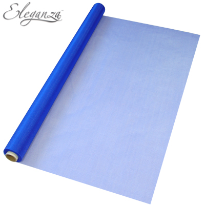 Eleganza Sheer Organza 70cm x 10m No.18 Royal Blue - Organza / Fabric