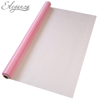 Eleganza Sheer Organza 70cm x 10m Fashion Pink - Organza / Fabric