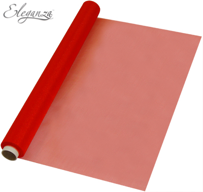 Eleganza Soft Sheer Organza 47cm x 10m Red - Organza / Fabric