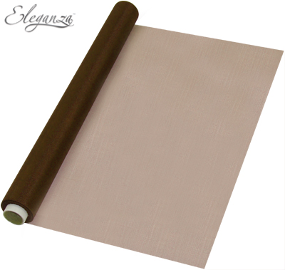 Eleganza Soft Sheer Organza 47cm x 10m Chocolate - Organza / Fabric