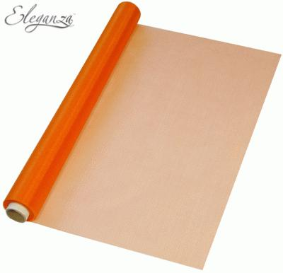 Eleganza Soft Sheer Organza 47cm x 10m Orange - Organza / Fabric