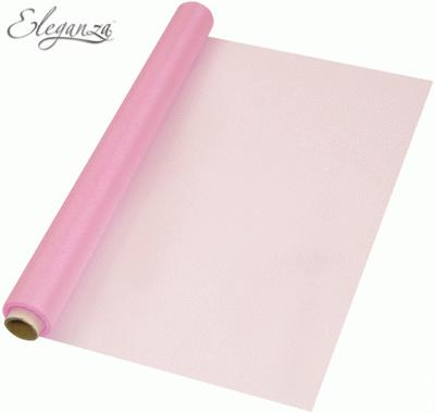Eleganza Soft Sheer Organza 47cm x 10m Fashion Pink - Organza / Fabric