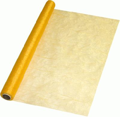 Eleganza Crinkle Organza 60cm x 10m Gold (Special Net Price) - Clearance