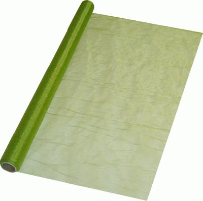 Eleganza Crinkle Organza 60cm x 10m Pistachio Green (Special Net Price) - Clearance