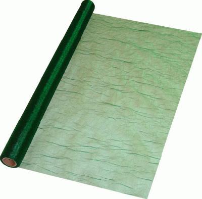 Eleganza Crinkle Organza 60cm x 10m Dark Green (Special Net Price) - Clearance