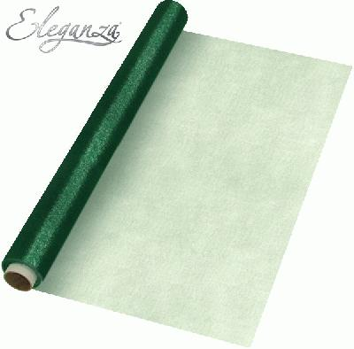 Eleganza Soft Sheer Organza 47cm x 10m Green - Organza / Fabric