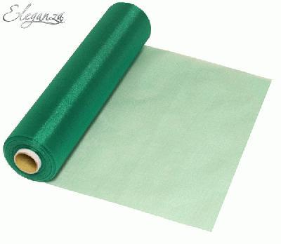 Eleganza Soft Sheer Organza 29cm x 25m Emerald Green - Organza / Fabric