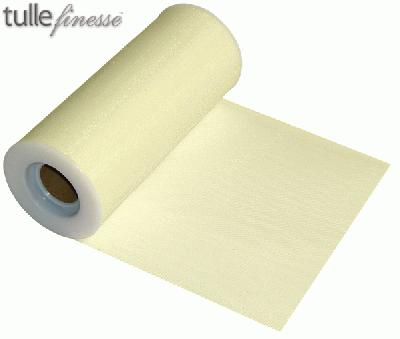 Tulle Finesse 6inch x 25y Cream - Organza / Fabric