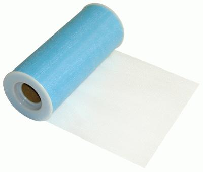 Tulle Finesse 6inch x 25yards Light Blue - Organza / Fabric