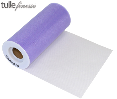 Tulle Finesse 6inch x 25y Lavender - Organza / Fabric