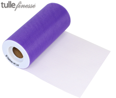 Tulle Finesse 6inch x 25y Purple - Organza / Fabric