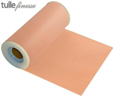 Tulle Finesse 6inch x 25y No.05 Peach - Organza / Fabric