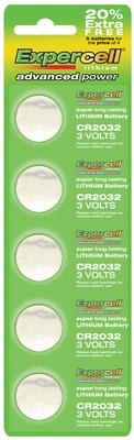 Expercell CR2032 Batteries x 5pcs - Batteries