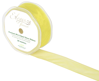 32mm x 20m Pale Yellow - Ribbons