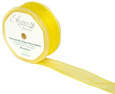 32mm x 20m Yellow - Ribbons