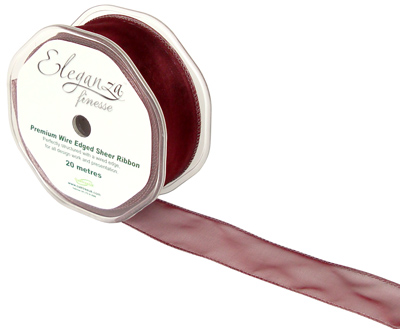 32mm x 20m Burgundy - Ribbons