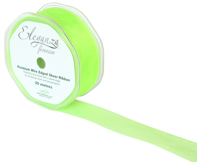 32mm x 20m Lime Green - Ribbons
