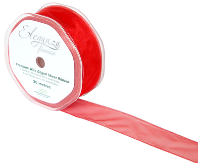 32mm x 20m Red - Ribbons