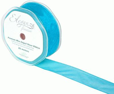 32mm x 20m Turquoise - Ribbons