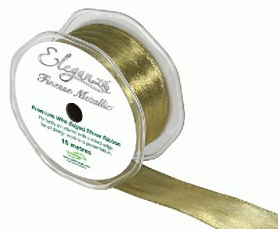 38mm x 15m Metallic Gold - Ribbons