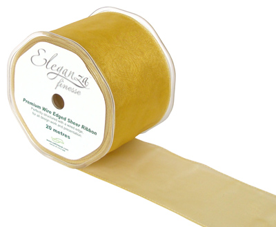 70mm x 20m Lt Gold - Ribbons