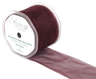 70mm x 20m Burgundy - Ribbons