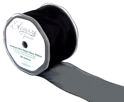 70mm x 20m Black - Ribbons