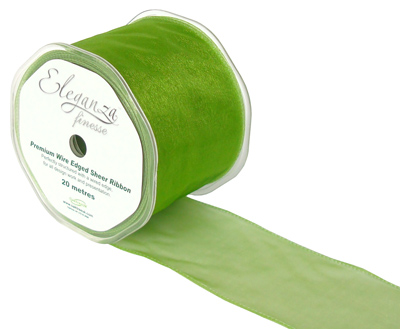 70mm x 20m Pistachio Green - Ribbons